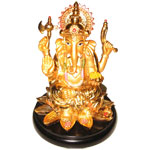 Send Metal Golden Ganesha to Kerala