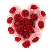 Long Lasting � Heart Shaped Arrangement of Red Roses