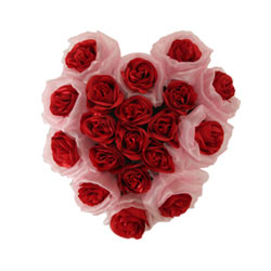 Captivating 19 Artificial Long Lasting Red Roses in Heart Framework