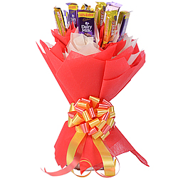 Amazing Bouquet of Delicious Cadbury Five Star with Dairy Milk Chocolates