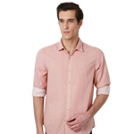 Enigmatic Pink Hue Printed Peter England Shirt