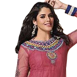 Amazing Beauty Special Pink Faux Georgette Salwar Suit from Praful