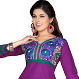 Amazing Purple Coloured Salwar Suit with Fashion Satisfaction