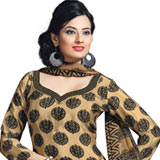 Wonderful Salwar Suit in Brown and Black Colour