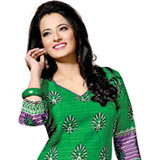 Bringht and Beautiful Printed Salwar Suit in Green
