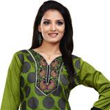 Astonishing Crepe Silk Printed Kurti (Green)