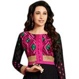 Attractive Anarkali Salwar Kameez in Black and Pink Colour