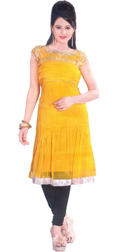 Soothing Shimmer Georgette Kurti