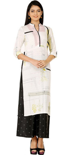 Arresting W Printed Cotton Kurti