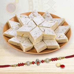 Glorious Moments - 1 Rakhi with Kaju Katli 250 grams