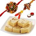 Special  set of Bhaiya Bhabhi set with 250gm Soan Papdi