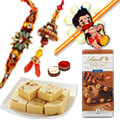 Superb Gift of Exclusive Family set with Lindt Chocolate & Soan Papdi