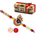 Breathtaking set of Single Rakhi with Ferrero Rochers
