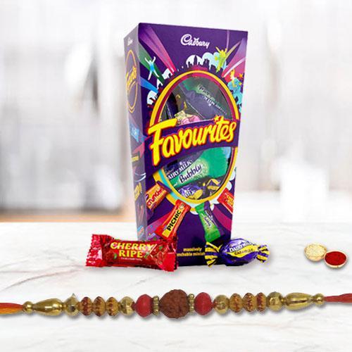 Precious set of One Rakhi with Mix Cadbury Chocolates