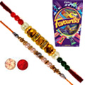 Lovely Combo of Rakhi with Mix Cadbury Chocolates