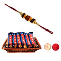 Amazing Delight Rakhi & Boost Chocolates in the Basket Gift Set