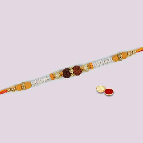 Traditional Double Rudraksha Rakhi