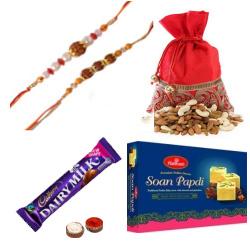 Enthralling Combo Pack of Rakhi Gifts