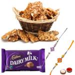 Fancy Rakhi with Sweetness Loaded Pack