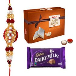 Fabulous Rakhi with Sweets N Chocolates Gift Set