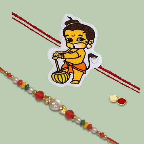 Charismatic Gift of 2 Rakhi Combo Set
