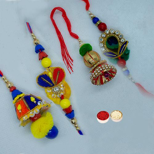 Fabulous Bhaiya Bhabhi Rakhi Set with Eternal Love