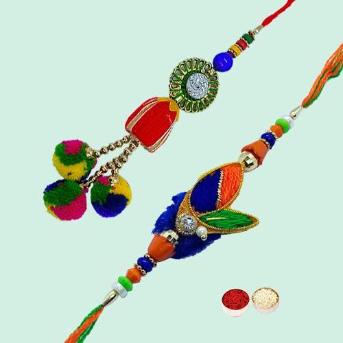 Auspicious Bhaiya-Bhabhi Rakhi Gift Set