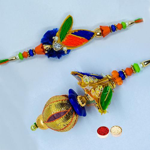 Attractive Bhaiya Bhabhi Rakhi Gift Set