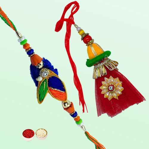 Exotic Bhaiya Bhabhi Rakhi Set for Auspicious Occasion