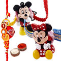 Mickey and Minnie Mouse Rakhi / Kids Rakhi Pair
