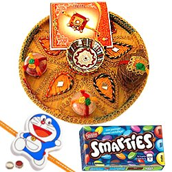 Ravishing Kid Rakhi With Rakhi Thali