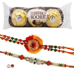 Auspicious Rakhi N Ferrero Rochers