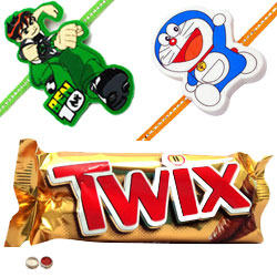 Delightful 2 Kids Rakhi With Twix
