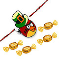 Trendy Angry Bird Kid Rakhi With Free Candies