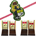 Powerful Ben 10 Kid Rakhi With Free Chocolates