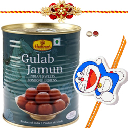 Fetching Rakhi With Chota Bheem Kid Rakhi And Haldiram Gulab Jamun