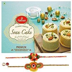 Two Graceful Rakhi With Haldiram Soan Cake