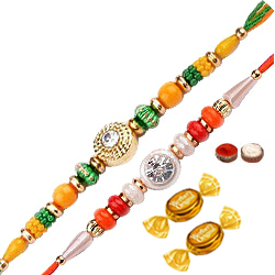 2 Beautiful Thread Rakhi