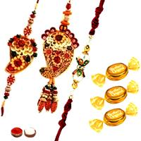 Designer Rakhi Set