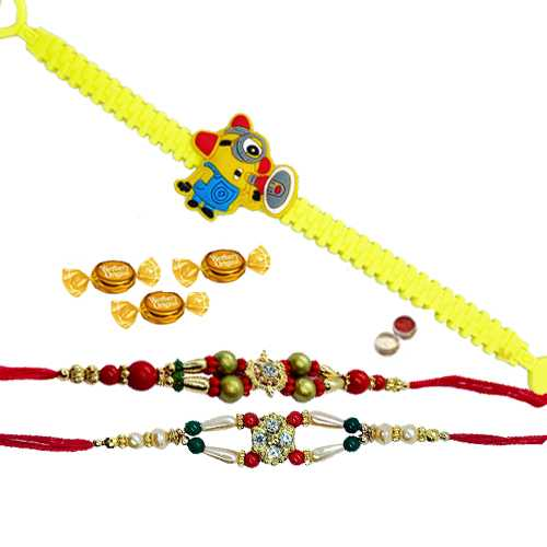 Charming Bhaiya Rakhi With Angry Bird Kid Rakhi