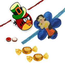 Adorable 2 Kid Rakhi Set