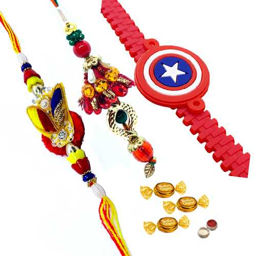 Gorgeous Bhaiya Bhabhi Rakhi Set And Ben10 Rakhi