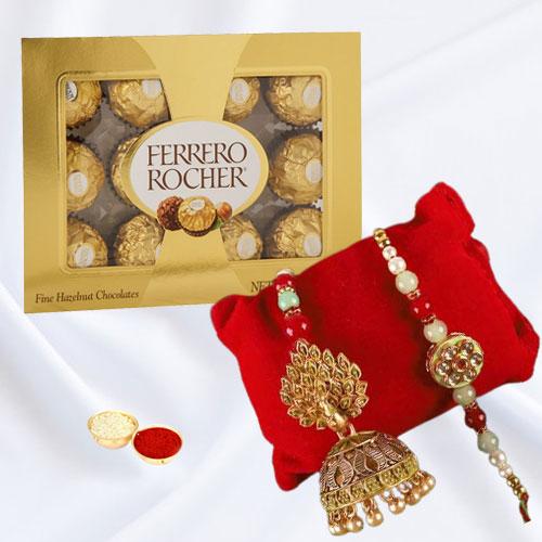 Cool Bhaiya Bhabhi Rakhi with Ferrero Rocher Chocolates
