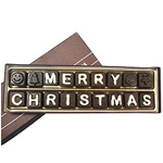 Delicious Merry Christmas Alphabet Chocolate