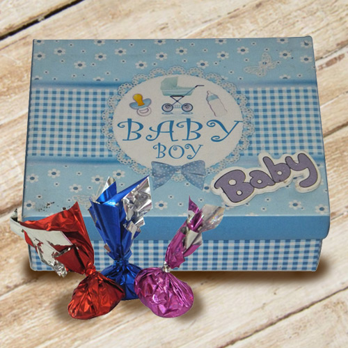 Award-Winning Baby Boy Homemade Chocolate Box with Enigmatic Taste