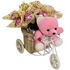 Amazing Teddy on Tricycle with Chocolates