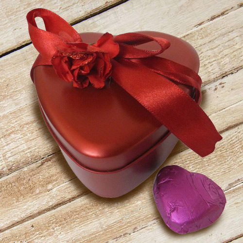 Delightful Heart Shaped Chocolate Box with the Fragrance of Romance