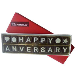 Superb Tempting Happy Anniversary SMS Chocolates