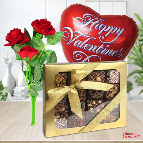 Delicious Fudge Brownies for your Valentine