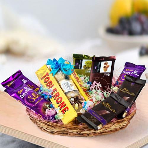 Deliver Assorted Chocos Gift Basket